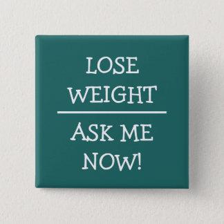 Bóton Quadrado 5.08cm Simples peça-me botões do peso do perder