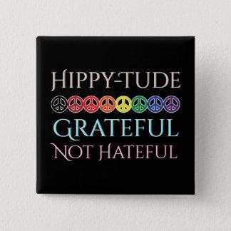 Bóton Quadrado 5.08cm Sinais de paz gratos de Tude do hippy