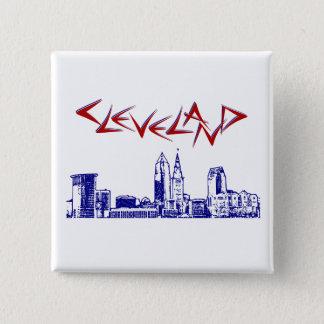 Bóton Quadrado 5.08cm Skyline de Cleveland