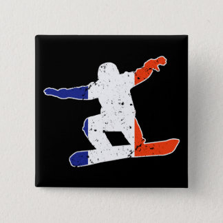 Bóton Quadrado 5.08cm SNOWBOARDER Tricolor francês (branco)