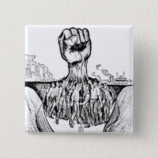 Bóton Quadrado 5.08cm Solidariedade