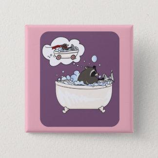 Bóton Quadrado 5.08cm Sonho do banho de espuma