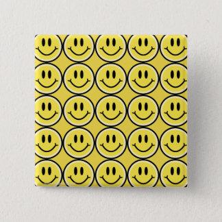 Bóton Quadrado 5.08cm Sorriso amarelo