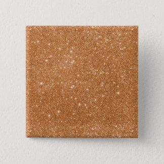 Bóton Quadrado 5.08cm Sparkles alaranjados queimados do brilho