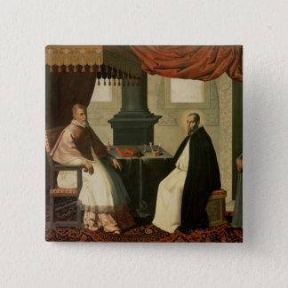 Bóton Quadrado 5.08cm St. Bruno e papa Urbano II 1630-35