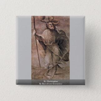 Bóton Quadrado 5.08cm St Christopher por Beccafumi Domenico