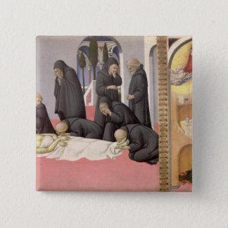 Bóton Quadrado 5.08cm St Jerome que aparece a St. Cyril de Jerusalem, 14