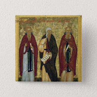 Bóton Quadrado 5.08cm St John Climacus St John de Damasco