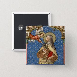 Bóton Quadrado 5.08cm St Teresa de Avila (SAU 28)