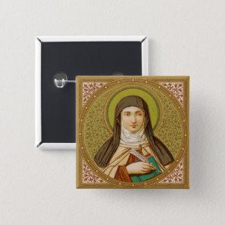 Bóton Quadrado 5.08cm St Teresa do quadrado de Avila (SNV 27)