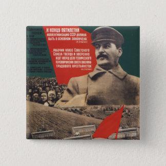 Bóton Quadrado 5.08cm Stalin