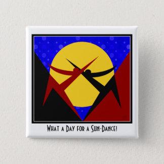 Bóton Quadrado 5.08cm Sun-Dança do art deco