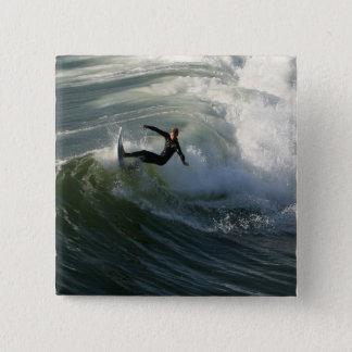 Bóton Quadrado 5.08cm Surfista em um Pin do roupa de mergulho