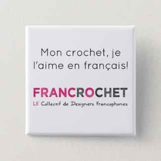 Bóton Quadrado 5.08cm Suspiro recheado gancho em francês