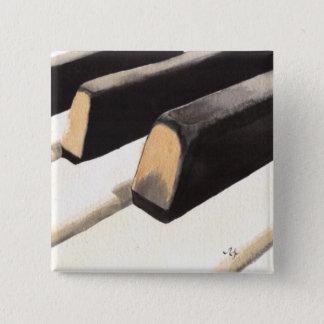 Bóton Quadrado 5.08cm Teclado de piano