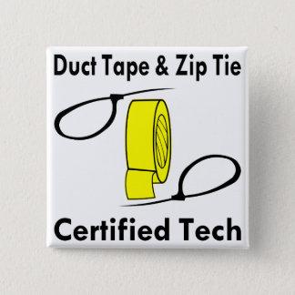 Bóton Quadrado 5.08cm Tecnologia certificada laço da fita adesiva & do