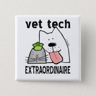 Bóton Quadrado 5.08cm Tecnologia do veterinário Extraordinaire