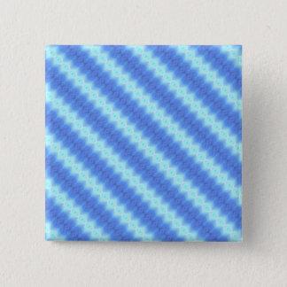 Bóton Quadrado 5.08cm Teste padrão azul da textura da listra do Crochet