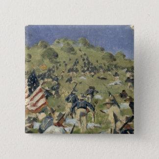 Bóton Quadrado 5.08cm Theodore Roosevelt que toma o santo Juan