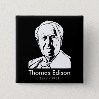 Bóton Quadrado 5.08cm Thomas Edison - gênio real