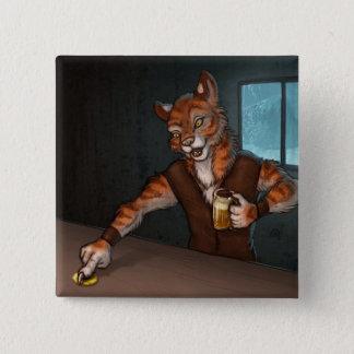 Bóton Quadrado 5.08cm Tigre da taberna