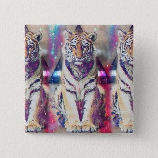 Bóton Quadrado 5.08cm Tigre do hipster - arte do tigre - tigre do