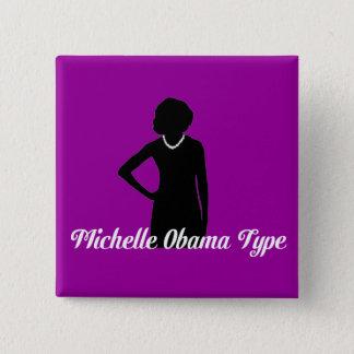 Bóton Quadrado 5.08cm Tipo botão de Michelle Obama, roxo Amethyst