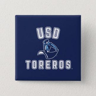 Bóton Quadrado 5.08cm Toreros de USD do vintage
