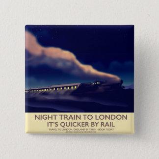 Bóton Quadrado 5.08cm Trem de noite a Londres