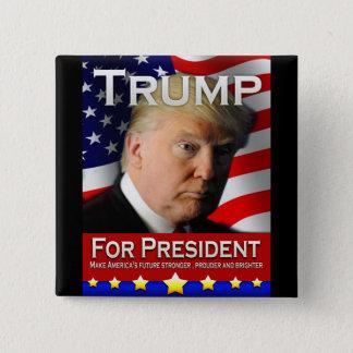 Bóton Quadrado 5.08cm Trunfo para o presidente