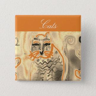 Bóton Quadrado 5.08cm Tudo botão da jóia dos gatos