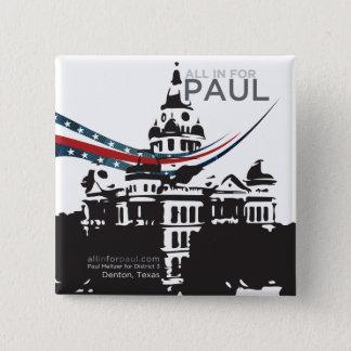 Bóton Quadrado 5.08cm Tudo dentro para Paul - botão quadrado