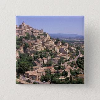 Bóton Quadrado 5.08cm UE, France, Provence, Luberon, Gordes