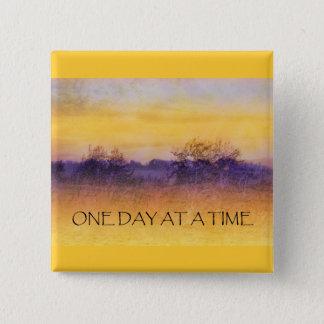 Bóton Quadrado 5.08cm Um dia em um campo roxo alaranjado do tempo
