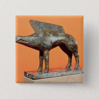 Bóton Quadrado 5.08cm Um javali, do Neuvy-en-Sullias