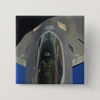 Bóton Quadrado 5.08cm Um raptor F-22 recebe o combustível de um KC-135