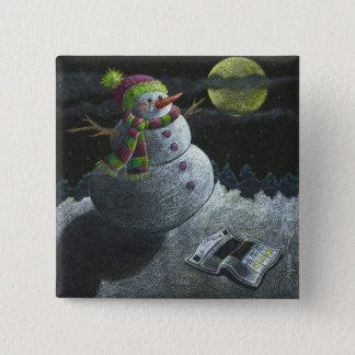 Bóton Quadrado 5.08cm Um rasgo do boneco de neve