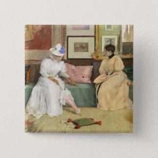 Bóton Quadrado 5.08cm Uma chamada amigável, 1895 (óleo em canvas)