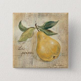 Bóton Quadrado 5.08cm Uma pera amarela