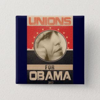 Bóton Quadrado 5.08cm Uniões para o Grunge 2012 de Obama