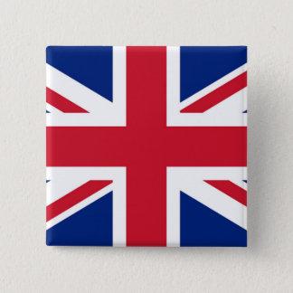 Bóton Quadrado 5.08cm Union Jack - crachá