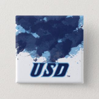 Bóton Quadrado 5.08cm Universidade da aguarela de San Diego | USD