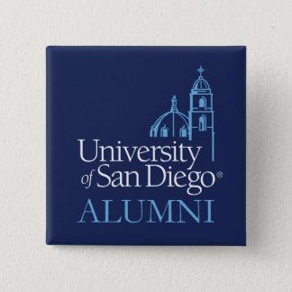 Bóton Quadrado 5.08cm Universidade de alunos de San Diego |
