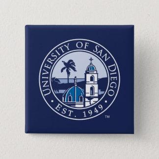 Bóton Quadrado 5.08cm Universidade de San Diego | Est. 1949