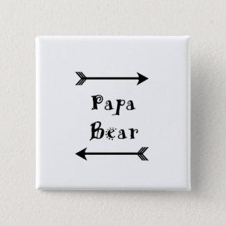 Bóton Quadrado 5.08cm Urso da papá
