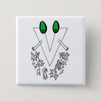 Bóton Quadrado 5.08cm V botão do estigma