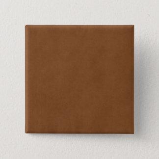 Bóton Quadrado 5.08cm Vazio de couro do papel de pergaminho de Tan Brown