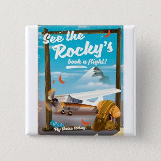 """Bóton Quadrado 5.08cm Veja o """"livro rochoso um vôo! """""""