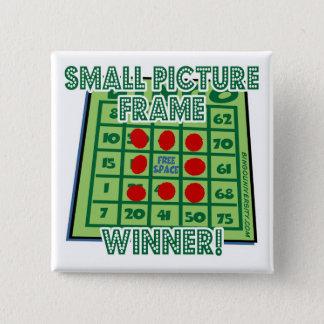 Bóton Quadrado 5.08cm Vencedor pequeno da moldura para retrato do botão