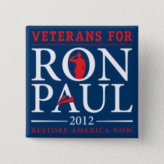 Bóton Quadrado 5.08cm Veteranos para o botão retro de Ron Paul